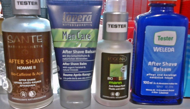 after shave testers shelf