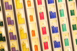 Немецкий производитель экосредств для стирки и уборки Sonett  отличается якрой нарядной упаковкой (стенд на выставке BioFach 2013)