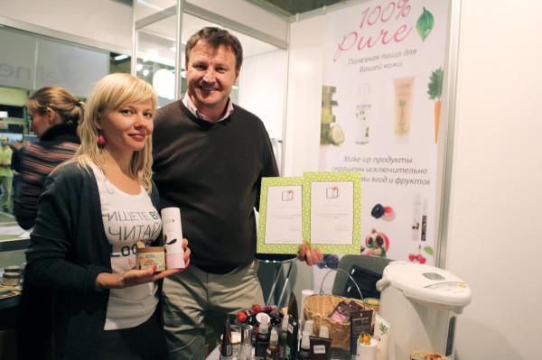 Татьяна Лебедева (LookBio) и Игорь Родин (100% Pure)