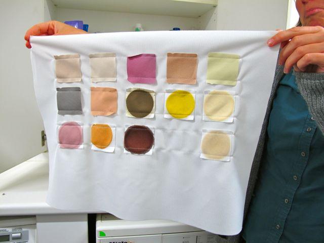 Специально испачканная разными видами загрязнителей ткань для тестирования стиральных порошков и жидкостей