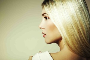 blond hair profile