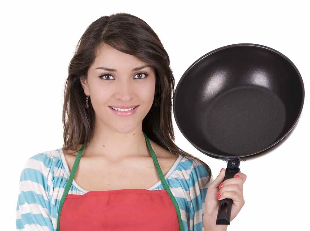 Girl with the frying pan