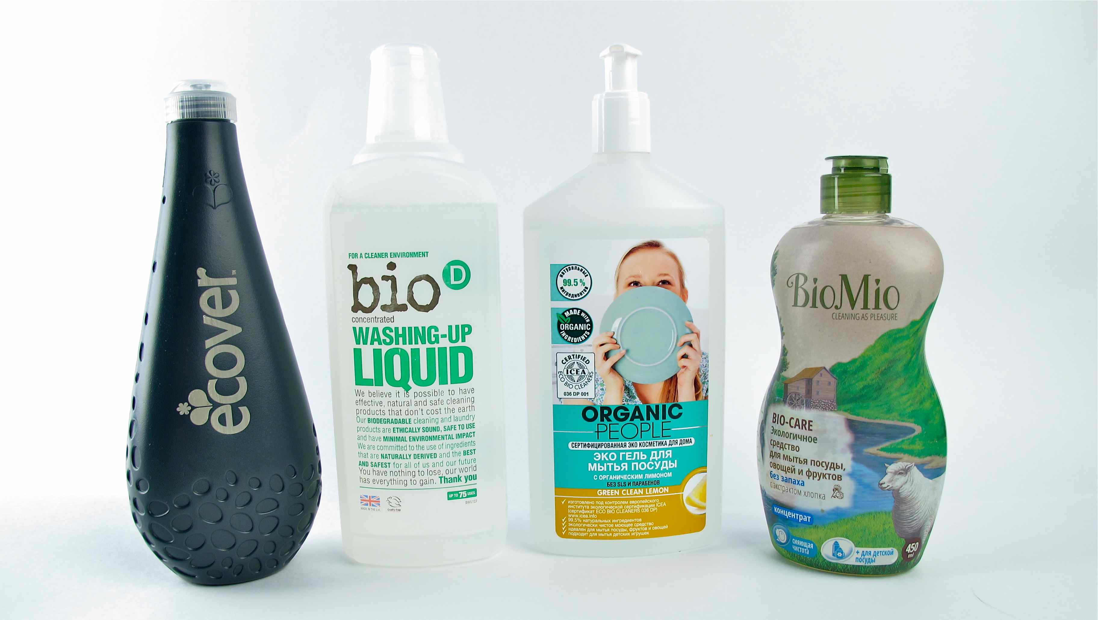All dish washing liquids Ecover Bio D Organic People Bio Mio