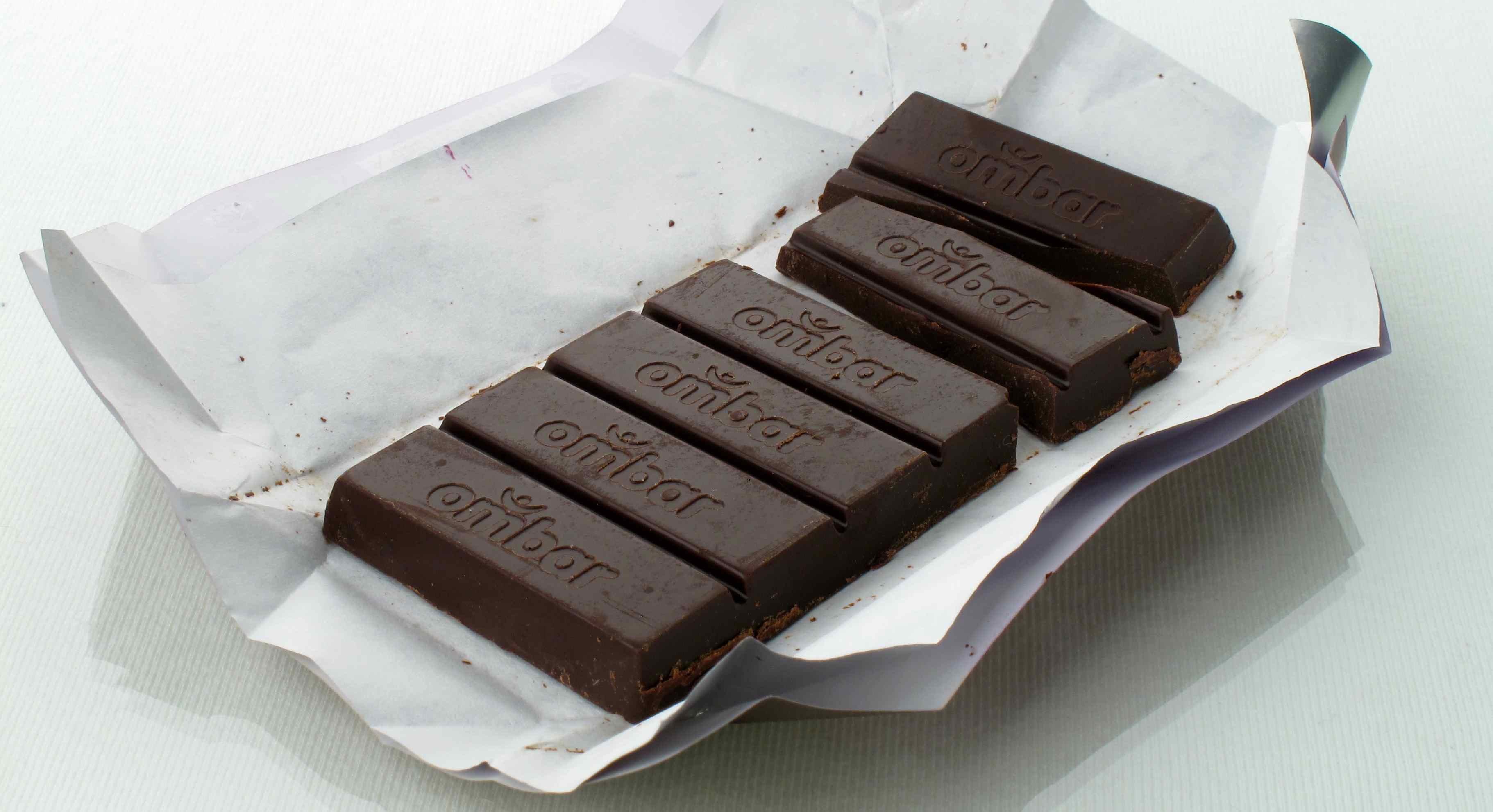 Ombar chocolate acai inside