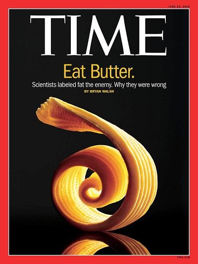 Обложка журнала Time за июнь 2014 года со сливочным маслом.