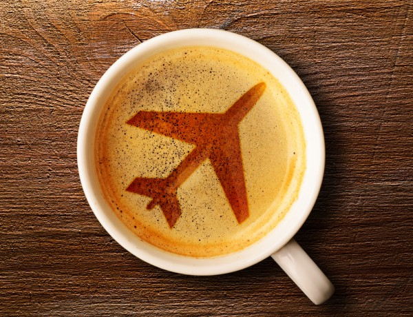Airplane coffee espresso