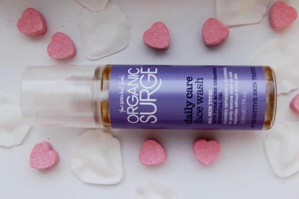 organic surge face wash