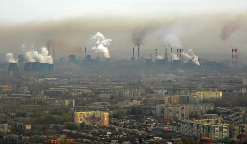 Cheliabinsk general view on CHMZ zavod