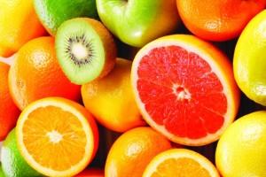 fruit orange grapefruit kiwi