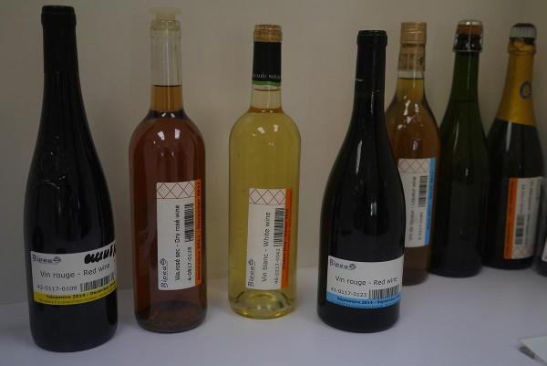 Винные образцы из Франции для проверки качества работы лаборатории
