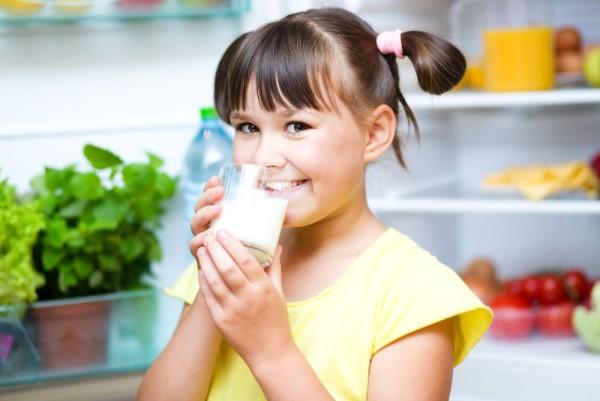 girl milk glass