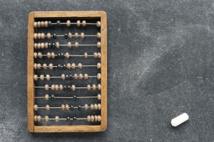 wooden abacus saving money