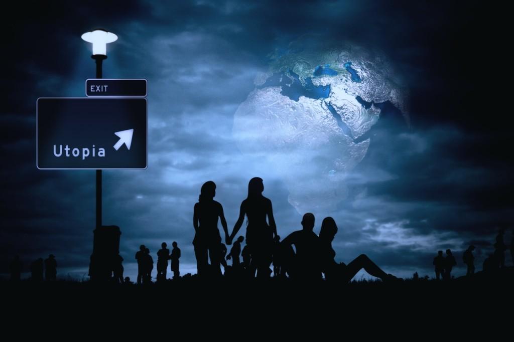 night, utopia, earth