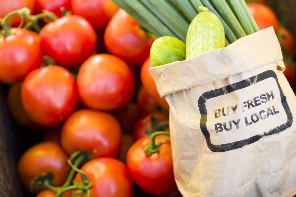 Fresh local market veggies buy organic