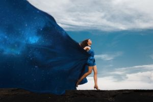 woman-in-dress-and-space-dress