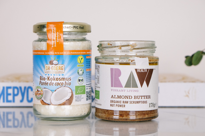 Trifonova organic food coconut oil almond butter