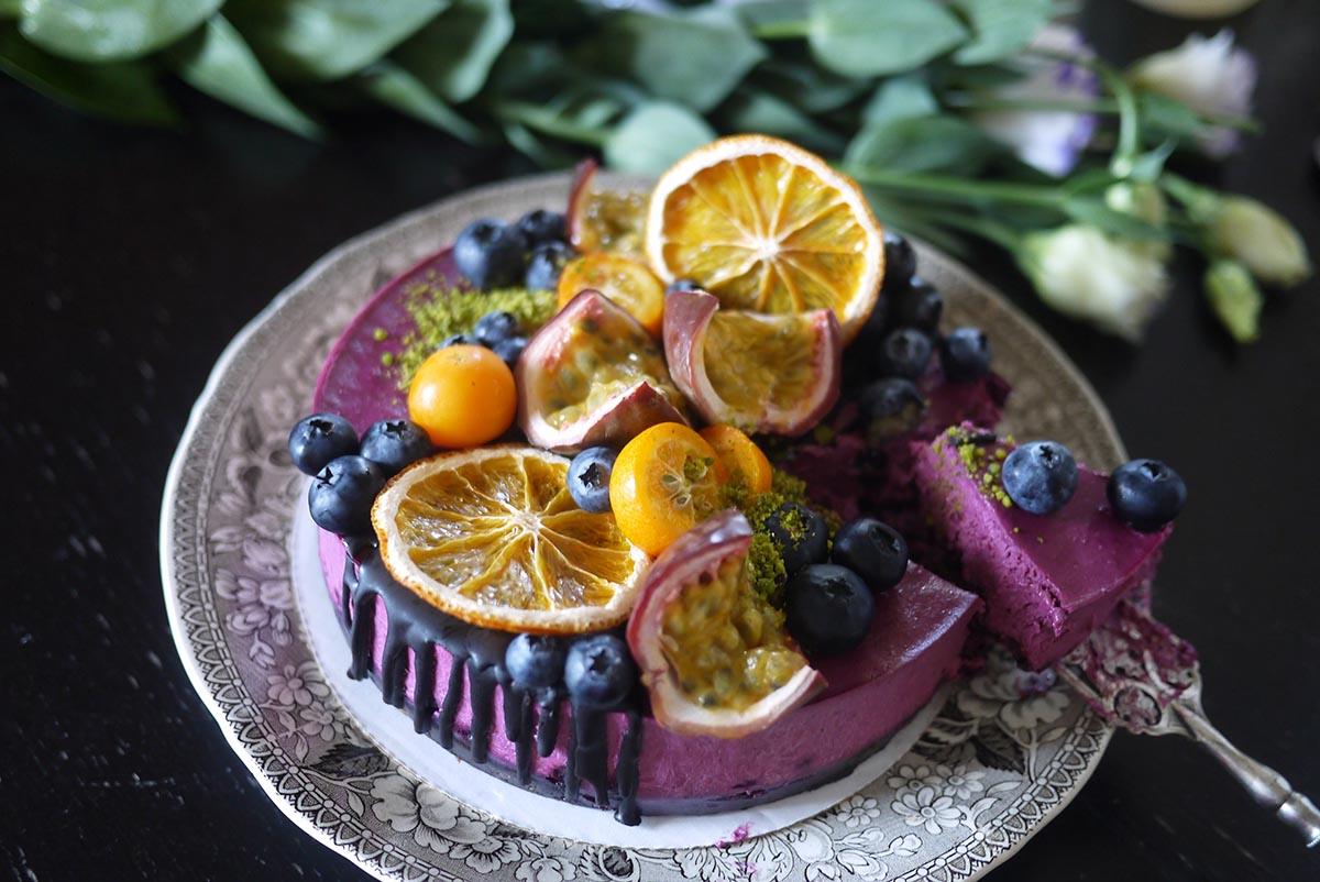 raw sweet cake