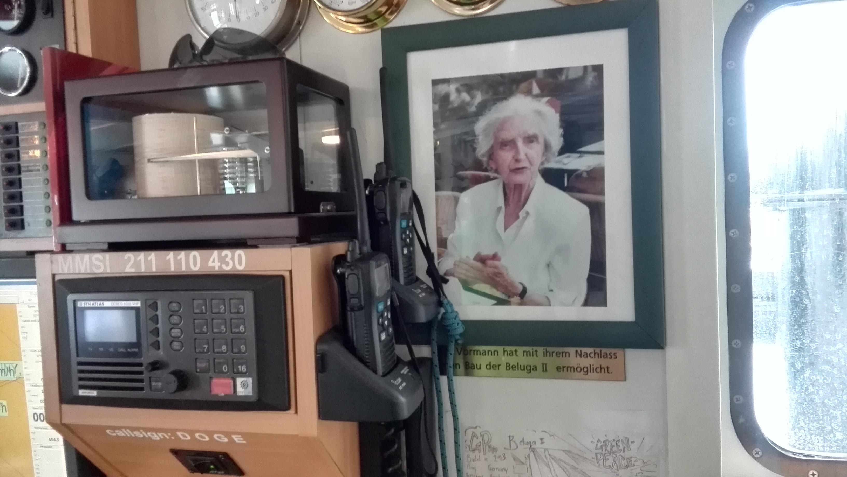 Фото: Наталья Парамонова, портрет Илзе Форманн в капитанской рубке