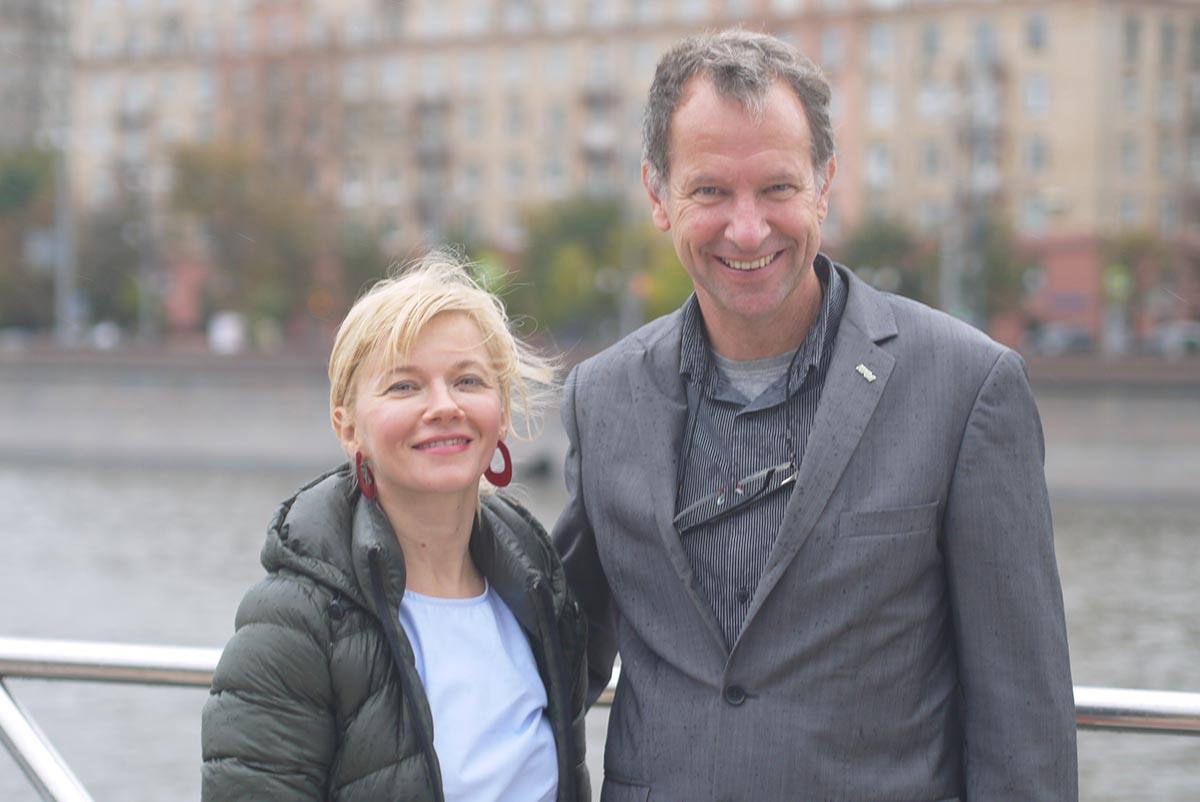 Татьяна Лебедева, главный редактор LookBio, Маркус Арбенц, исполнительный директор IFOAM International