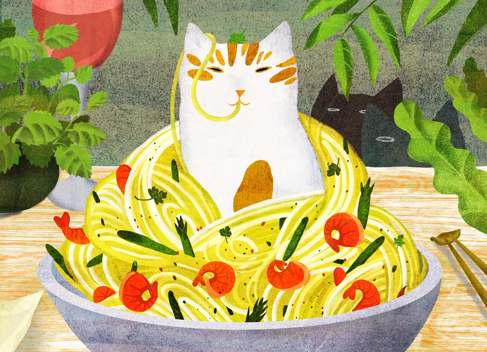 cat asparagus