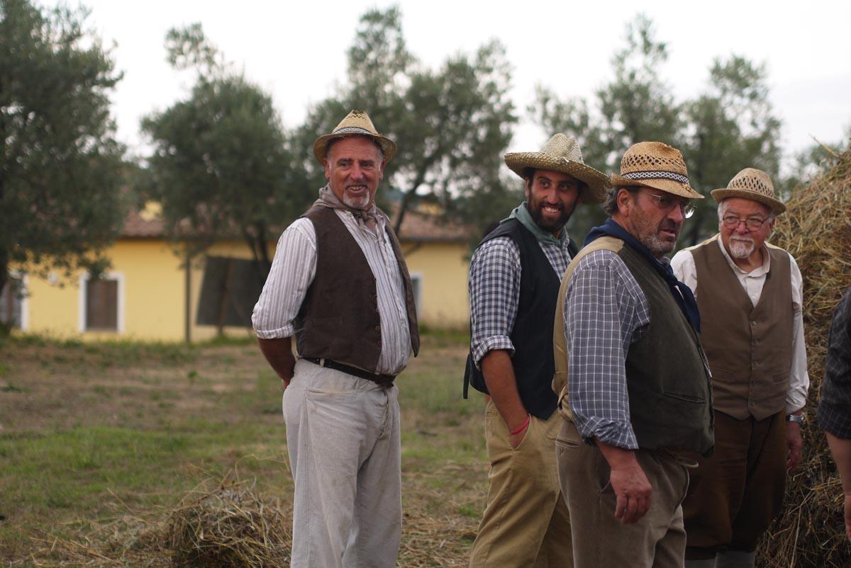 Фермеры на празднике античной пшеницы