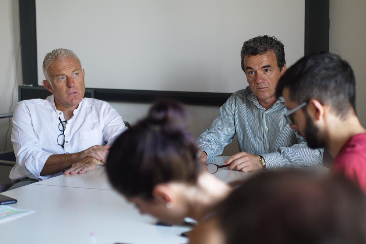 Гвидо Гуаланди на пресс-конференции