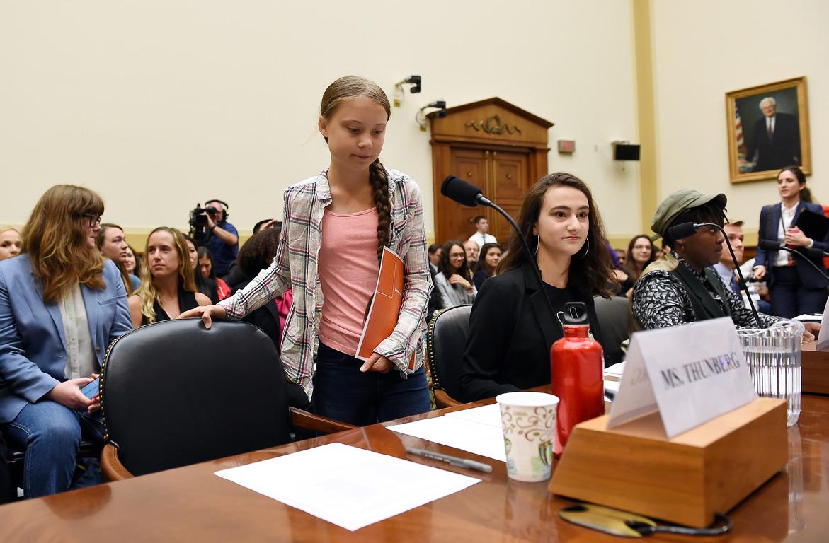 Грета Тумберг, Вашингтон, Фото: Olivier Douliery / AFP