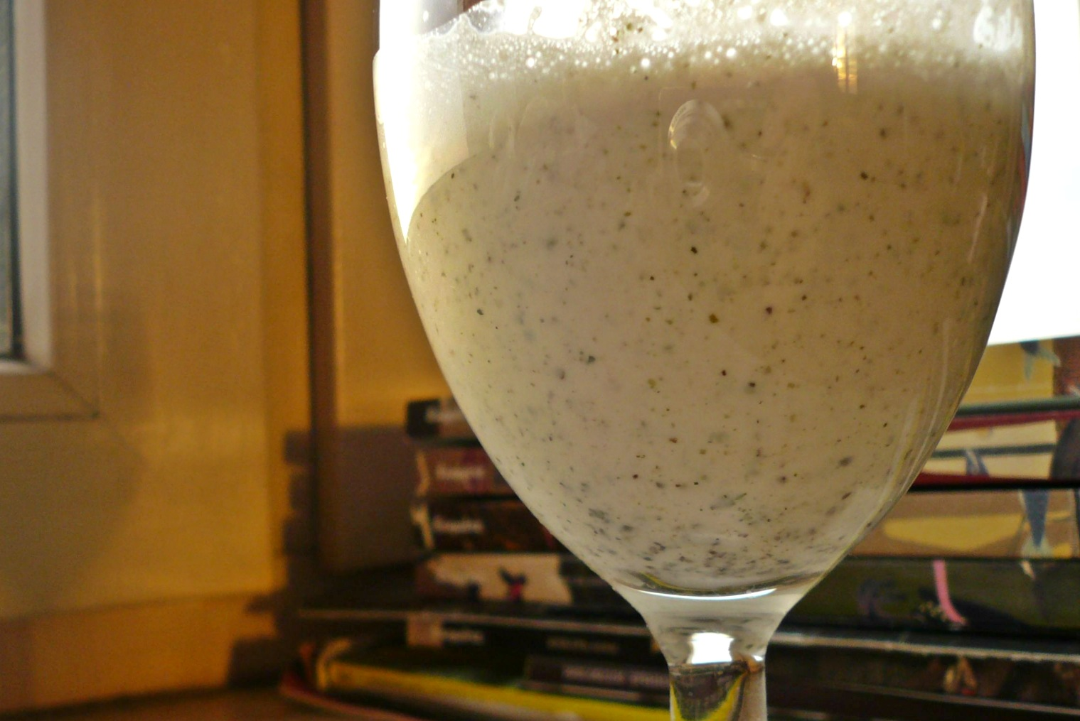 hemp milk close-up