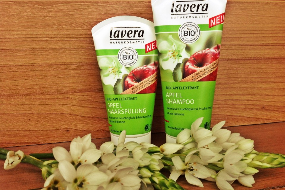 lavera apple shampoo and conditiner