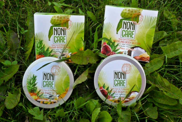 nonicare body scrub and butter