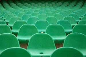 empty green chairs