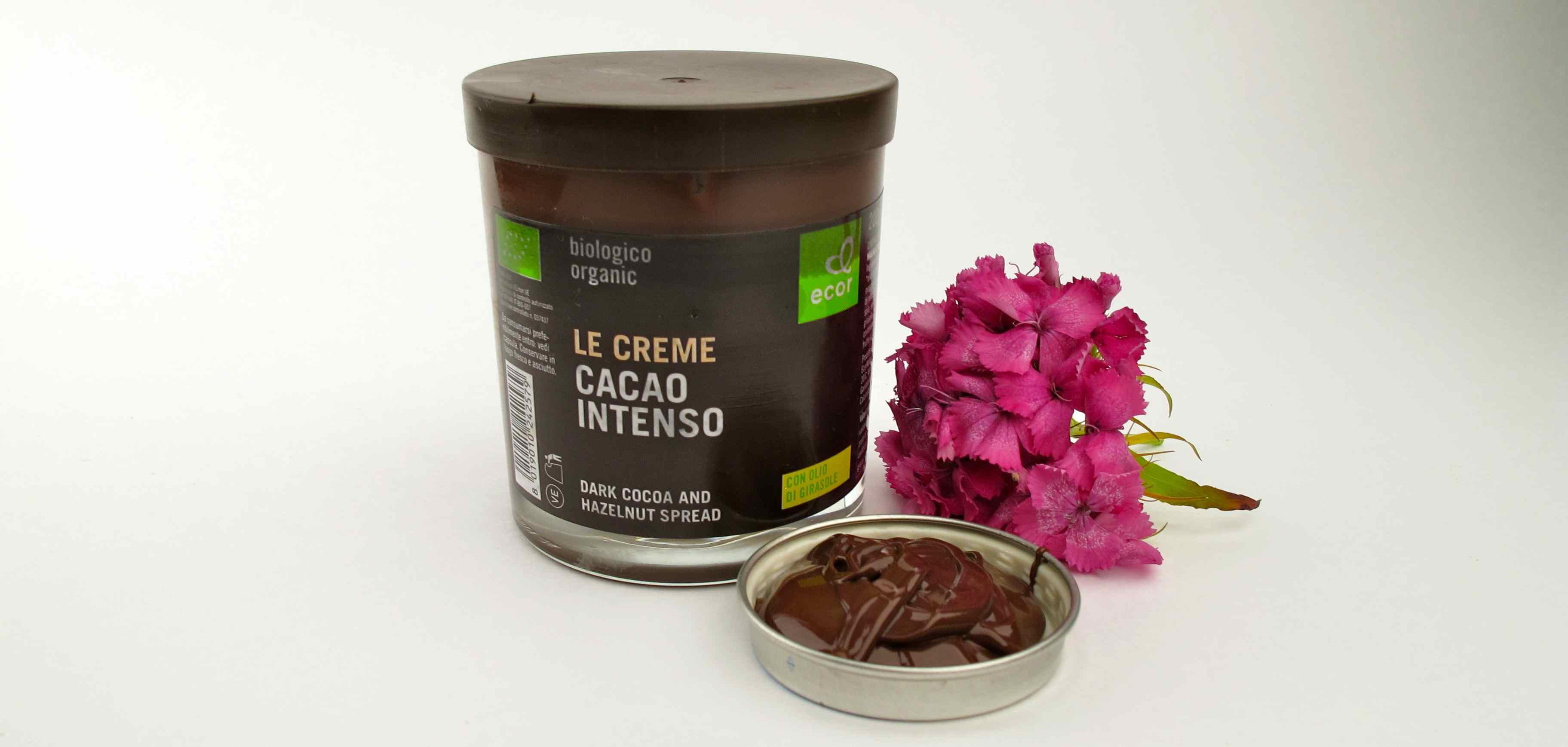 Chocolate paste vegan organic inside