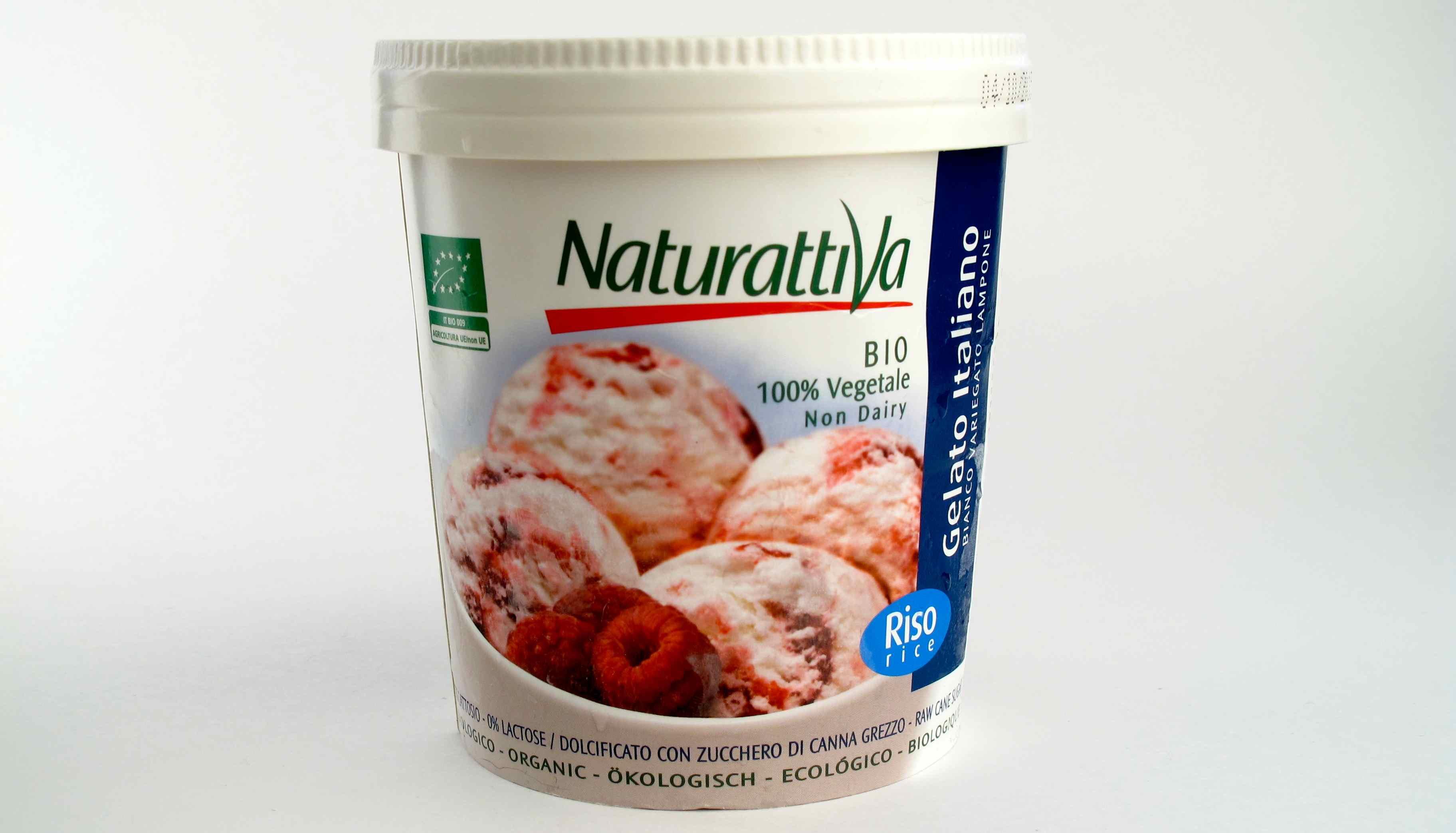 Ice cream rise milk vegan organic