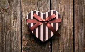 gift on wood