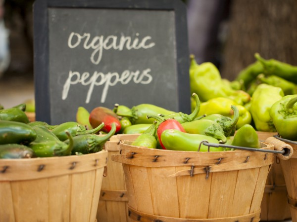 Organic peppers