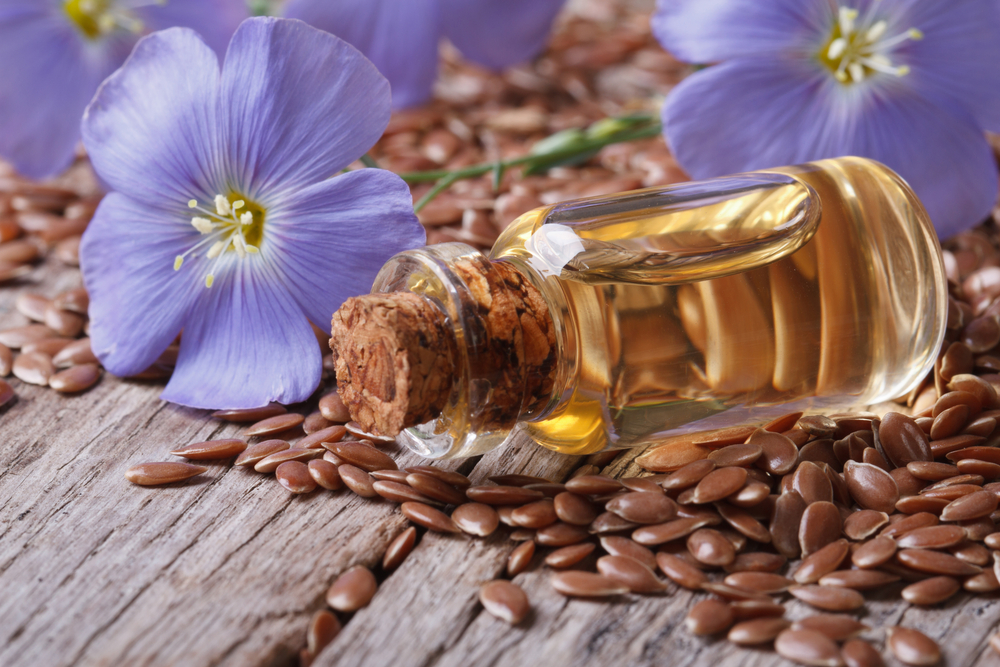 Flax seed oil flower