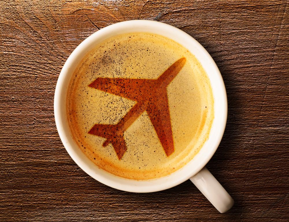 Airplane coffee espresso
