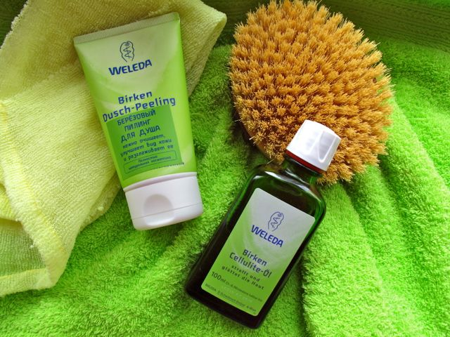 Weleda scrub gel Bereza cellulit 1