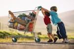 shopping trolley boys kids food