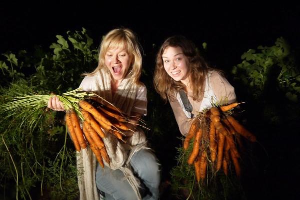 Татьяна Лебедева (LookBio) и Нина Филиппова (Натур-Продукт) в хозяйстве биофермера Петрополуса (Западная Греция)