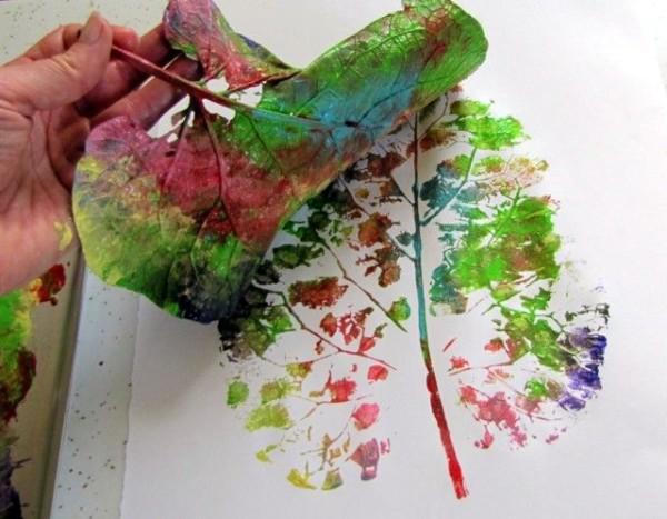 leaf painting