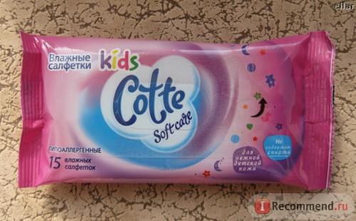 Влажные салфетки Cotte, фото с сайта irecommend.ru