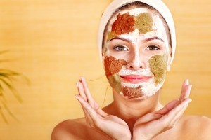 Natural homemade clay facial mask