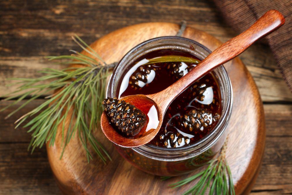 Siberian dessert pine cones jam food