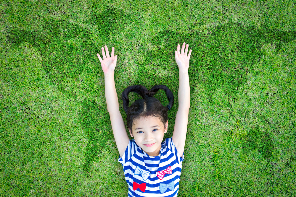 girl grass eco earth