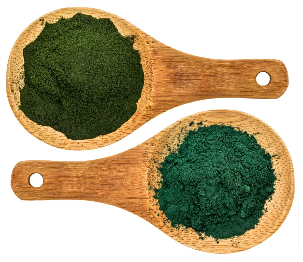 chlorella and spirulina