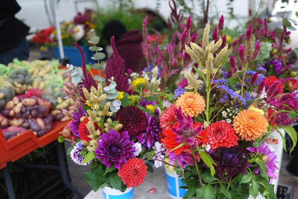 farmer market flowers