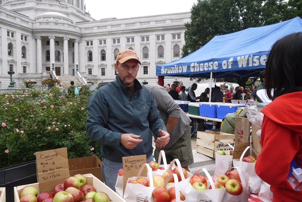 Фермерский рынок у здания Капитоля, Марилэнд, Висконсин