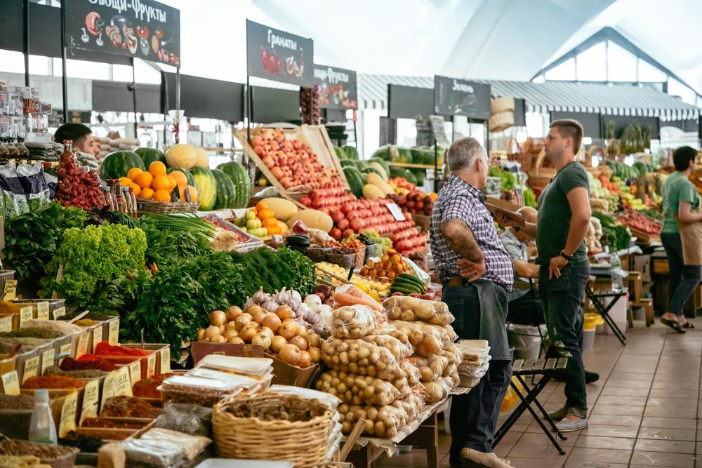 Danilovsky rinok moscow food market