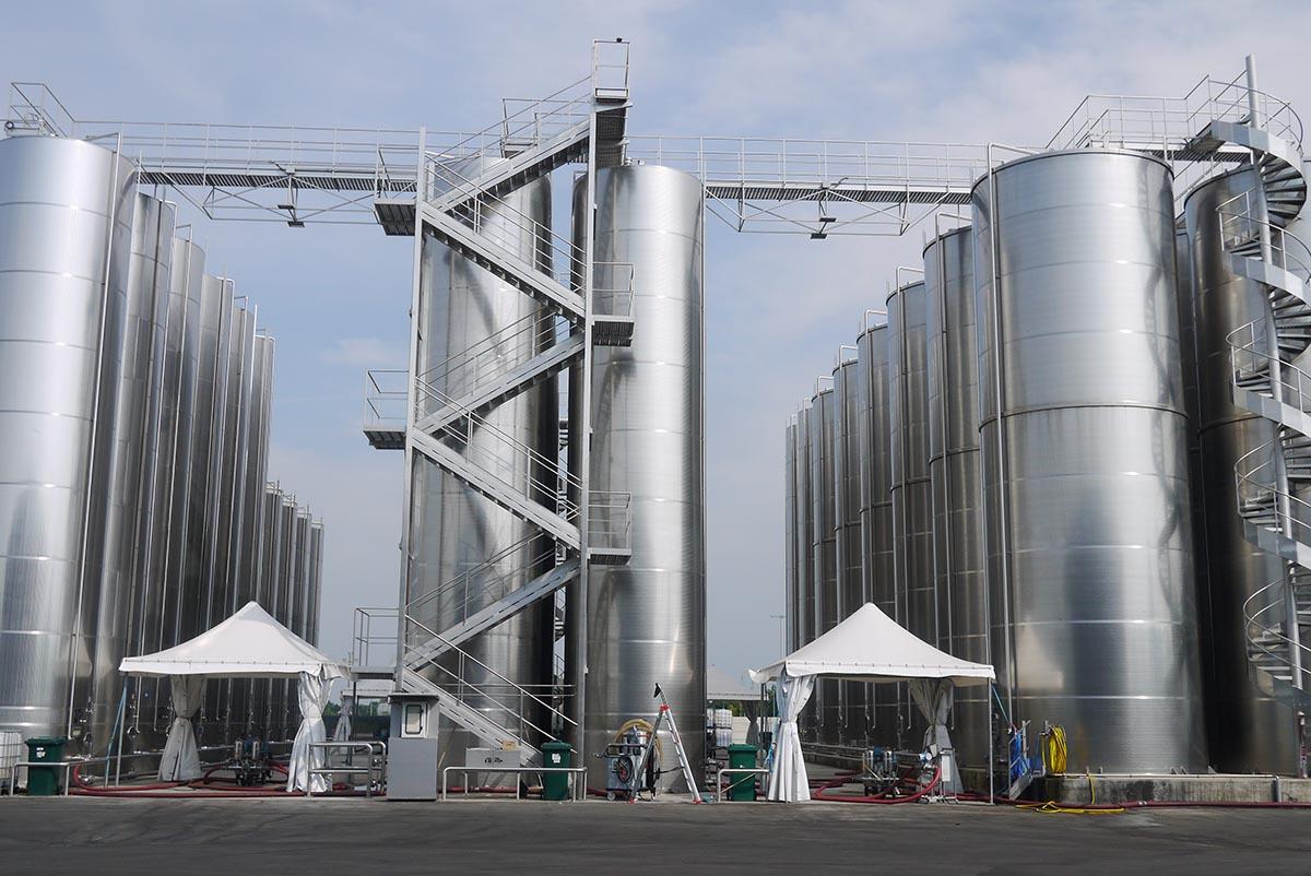 Резервуары для приема сырья, Acetum